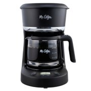 Mr. Coffee® 5-Cup Programmable Coffee Maker, 25 oz. Mini Brew, Brew Now or Later, with Water Filtration and Nylon image number 2