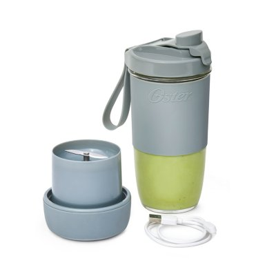 Oster® Blend Active Portable Blender with Drinking Lid, Gray
