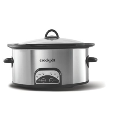 Crockpot™ 6-Quart Smart-Pot® Slow Cooker, Programmable, Stainless Steel