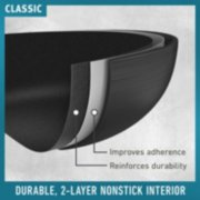 classic cookware improves adherence and reinforces durability with durable 2 layer nonstick interior image number 3