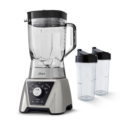 Oster Pro® Blender with Texture Select Settings, 2 Blend-N-Go Cups and Tritan Jar, Brushed Nickel
