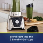 Oster Pro® Blender with Texture Select Settings, 2 Blend-N-Go Cups and Tritan Jar, Brushed Nickel image number 3