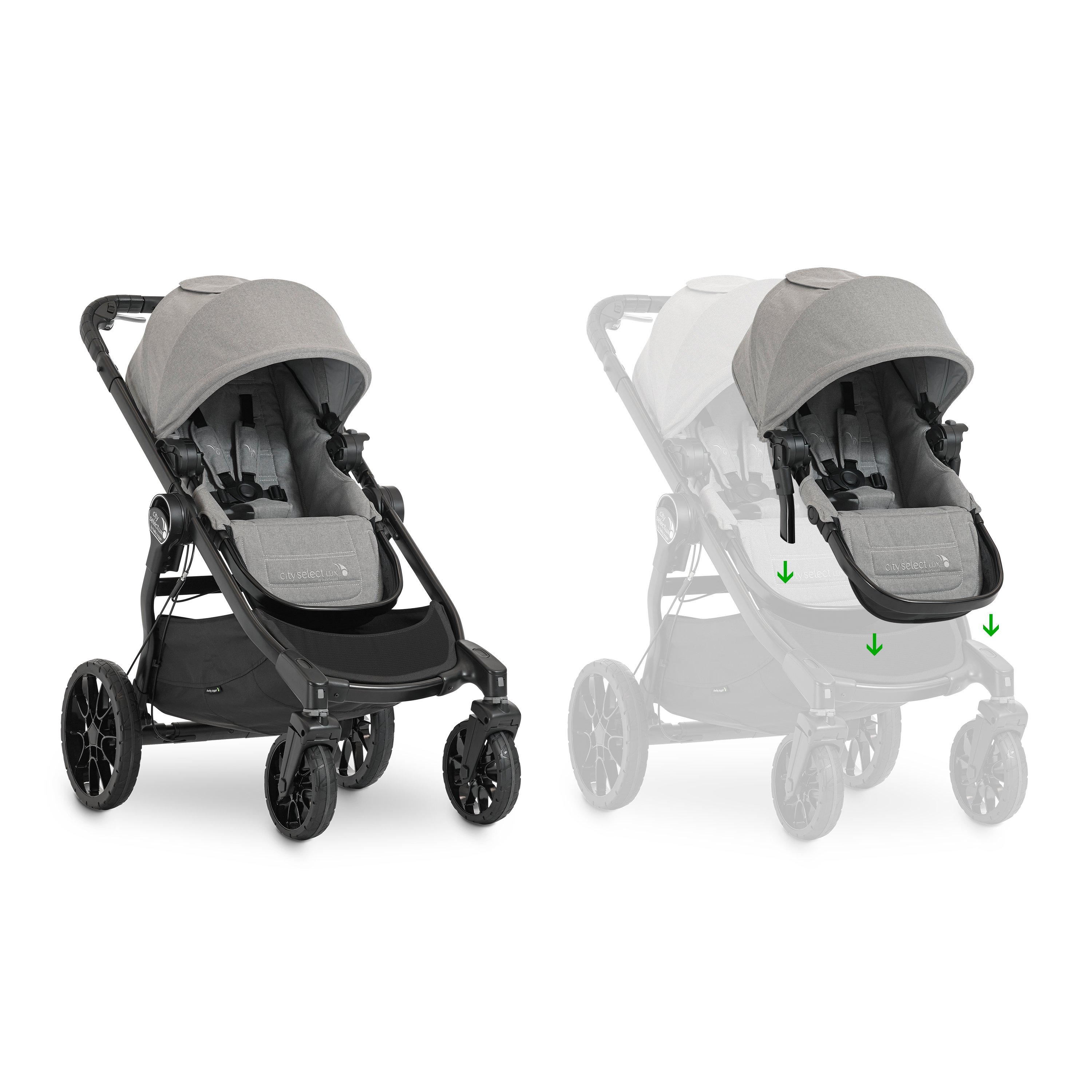 city select LUX double stroller