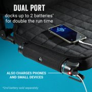 onesource heated stadium seat with dual port that docks up to 2 batteries or charges phones and small devices with batteries sold separately image number 3