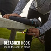 onesource heated stadium seat with bleacher hook that keeps the seat in place image number 5