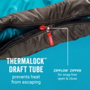 sleeping bag with zipplow zipper and thermalock draft tube image number 5