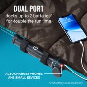 heated blanket with dual port that docks up to 2 batteries for double the run time and charges small devices image number 3