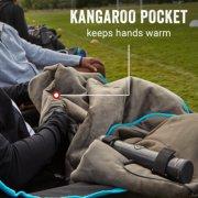 heated blanket with kangaroo pocket to keep hands warm image number 4