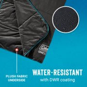 heated blanket with plush fabric underside and water resistant coating image number 5