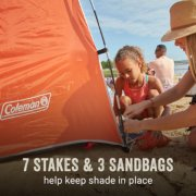 skyshade comes with 7 stakes and 3 sandbags to keep it in place image number 4