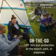 on the go U P F plus sun protection at the beach park or sidelines image number 1
