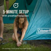 5-minute tent setup with pre attached poles image number 1