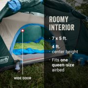 tent with roomy interior and wide door fits one queen-size airbed image number 5
