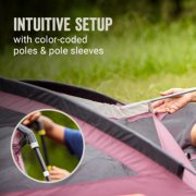 intuitive setup with color-coded poles and pole sleeves image number 1
