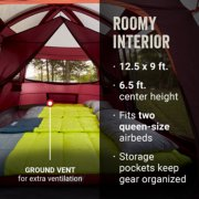 tent roomy interior fits two queen-size airbeds ground vent for extra ventilation image number 5