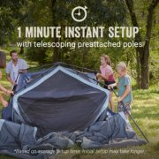 Skylodge™ 10-Person Instant Camping Tent With Screen Room, Blue Nights image number 1