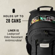 backpack holds up to 28 cans and its liner is leakproof odor resistant and antimicrobial image number 1