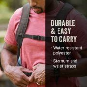 backpack that is durable and easy to carry with water resistant polyester and sternum and waist straps image number 4