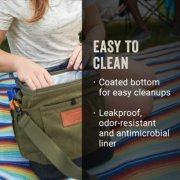 small soft cooler easy to clean coated bottom and leakproof odor resistant antimicrobial liner image number 5