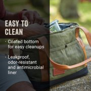soft cooler easy to clean coated bottom and leakproof odor resistant antimicrobial liner image number 5