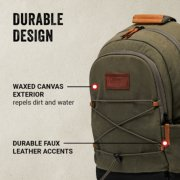 soft cooler backpack with waxed canvas exterior image number 1