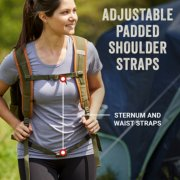 soft cooler backpack with adjustable padded straps in use image number 3