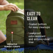 cooler backpack with easy to clean features image number 5