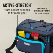 active stretch front pocket expands to fit more gear plus versatile bungee straps image number 1