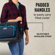 padded handles to easily carry filled cooler with adjustable shoulder strap image number 2
