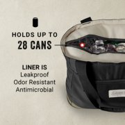 tote holds up to 28 cans and its liner is leakproof odor resistant and antimicrobial image number 1