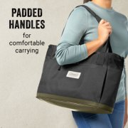 tote has padded handles for comfortable carrying image number 2