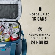 soft cooler holds up to 30 cans and keeps drinks cold up to 24 hours image number 1