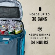 holds up to 30 cans keeps drinks cold up to 34 hours image number 1