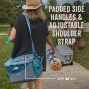 soft cooler has padded side handles and adjustable shoulder strap image number 5