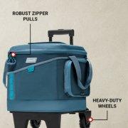 sport flex cooler has robust zipper pulls and heavy duty wheels image number 3