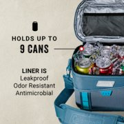 soft cooler holds up to 9 cans with leakproof liner image number 2