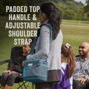 soft cooler bag has padded top handle and adjustable shoulder strap image number 4