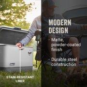 steel belted cooler has modern design and stain resistant liner image number 1