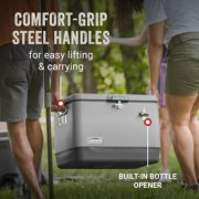 comfort grip steel handles for easy lifting and carrying and built in bottle opener image number 2
