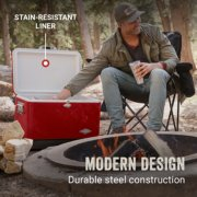 hard coolers modern design is durable and has stain resistant liner image number 1