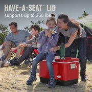 hard cooler has have a seat lid supports up to 250 pounds image number 4