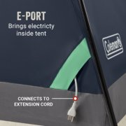 e port brings electricity inside tent connects to extension cord image number 6