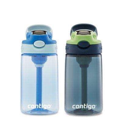 Kids Straw Water Bottle with AUTOSPOUT® Lid, 14oz, 2-pack