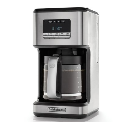 Calphalon 14-Cup Programmable Coffee Maker - Stainless Steel Drip Coffee Maker with Glass Carafe, High Performance Heating