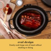 oval design evenly cook large cuts of meat without stacking or slicing image number 1