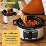 no spin pot oval cooking pot stays in place when stirring chili stews and more image number 4
