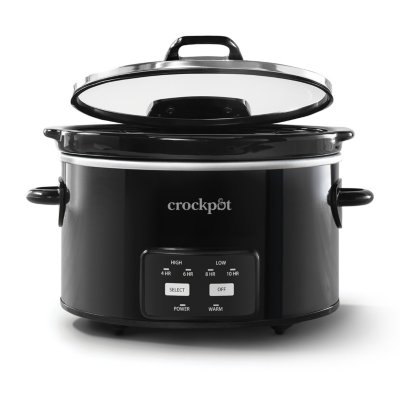 Crockpot™ 4.5-Quart Lift & Serve Hinged Lid Slow Cooker, One-Touch Control