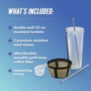 Mr. Coffee® Iced™ Coffee Maker with Reusable Tumbler, Stainless Steel Straws, and Gold-Tone Coffee Filter image number 5