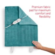 heating pad with premium fabric pad for maximum comfort and flexibility image number 4