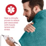 heating pad with heat is clinically proven to relieve pain associated with muscle tension and stress image number 5
